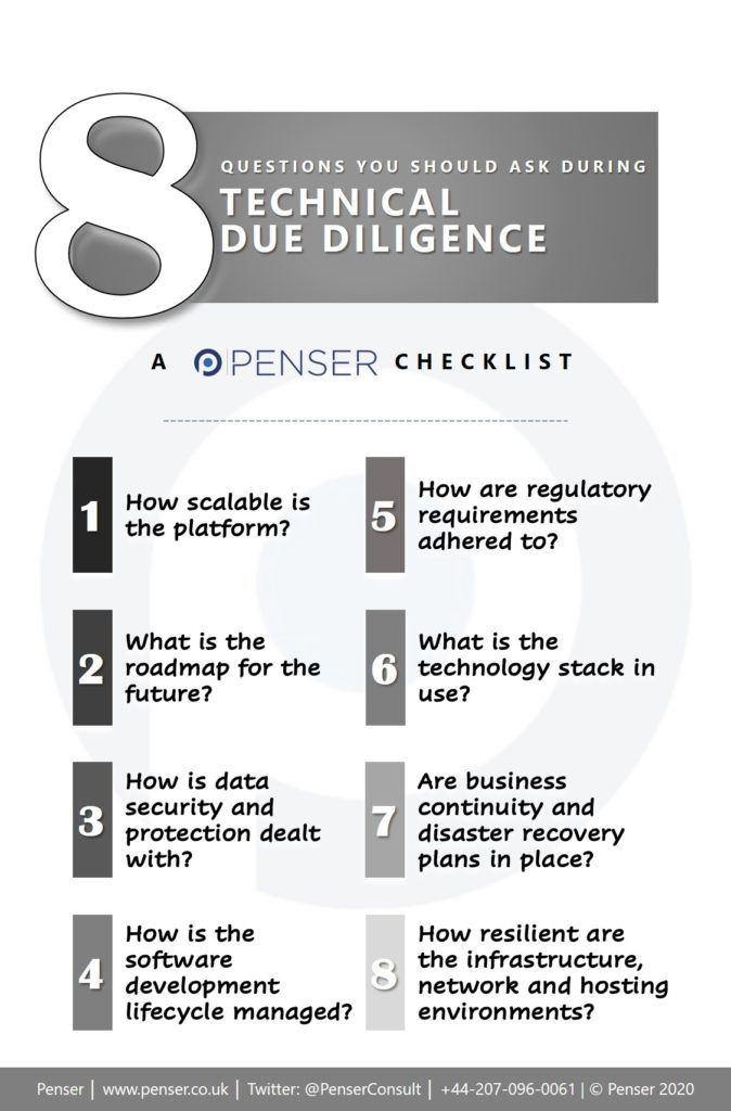 Technical Due Diligence Checklist PDF