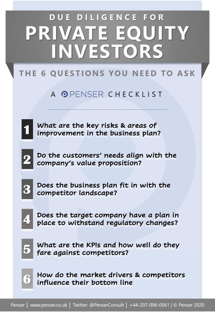 Penser's quick due diligence checklist for PE investors