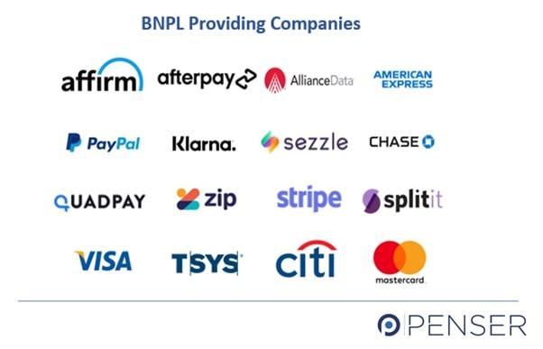 BNPL Service Providing Companies